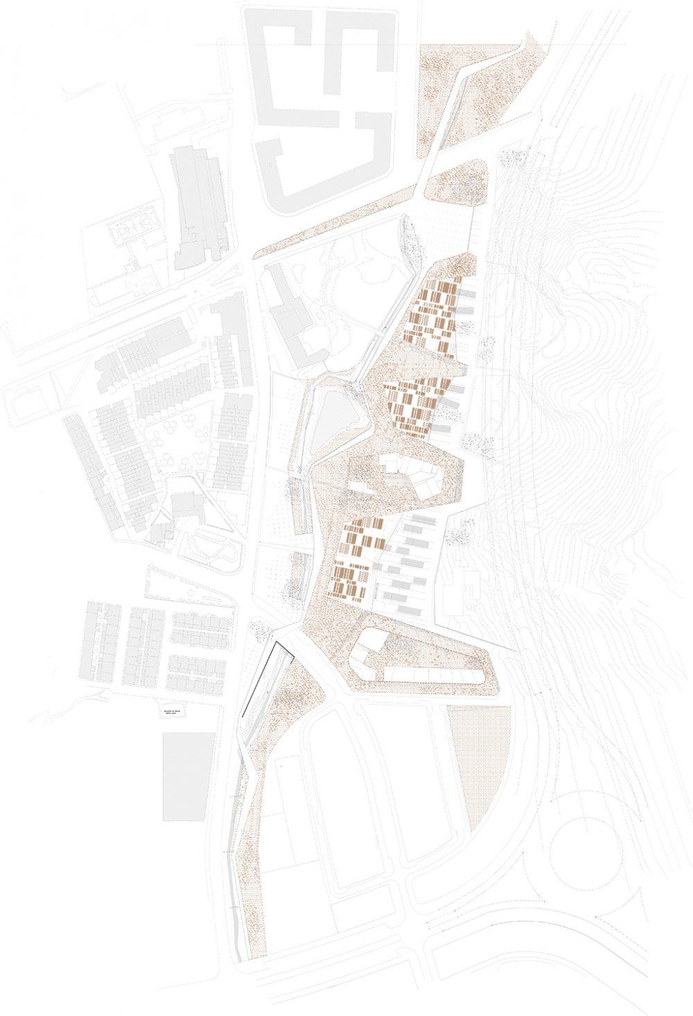 Europan 10 - AtelierBarda architecture - Espagne -Plan masse
