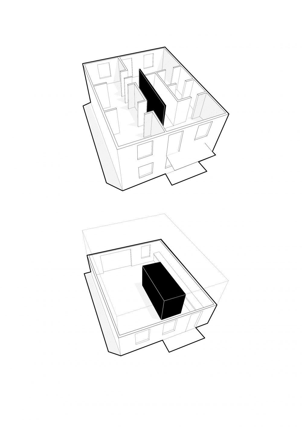Résidence Louis-Hébert - Atelier Barda architecture - schéma